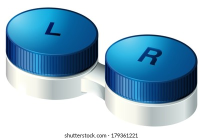Illustration of the contact lenses on a white background