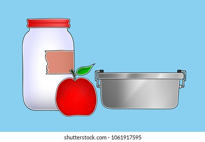Illustration of Containers used in Zero Waste Shopping