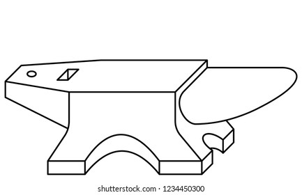 Illustration of the contour anvil tool icon