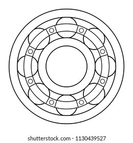 Illustration of the contour ball bearing design