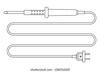 Illustration of the contour electric soldering iron tool