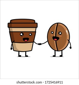 Illustration of couple cup and coffee vector design