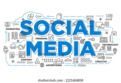 illustration of creative banner, social media digital marketing asset for presentation or cover pictogram, abstract thin line icon. use for background and annual report cover.