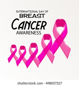 illustration of a Creative poster or banner of Breast Cancer Awareness month with pink ribbon.