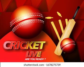 illustration of Cricket background.Cricket championship banner illustration of Sports background for the match of Cricket Championship Tournament