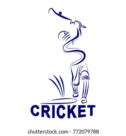 illustration of cricket batman