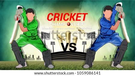 illustration of Cricket championship