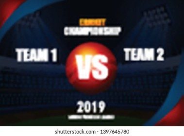 illustration of  cricket championship different participating countries showing revenge and VS versus text - Vector