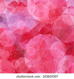 Illustration of crimson abstract geometric background, EPS10.