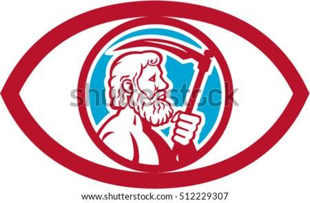 Illustration Cronus Kronos Greek God Leader Stock Vector Royalty