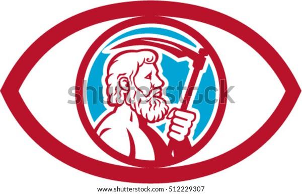 Illustration Cronus Kronos Greek God Leader Stock Vector (Royalty