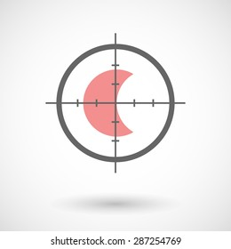 Illustration of a crosshair icon targeting a moon