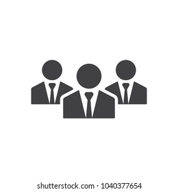 Illustration of crowd of people icon silhouettes vector. Social icon. Flat style design. User group network. Corporate team group. Community member. Business team work activity. Staff unity.