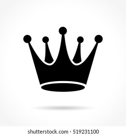 Illustration of crown icon on white background