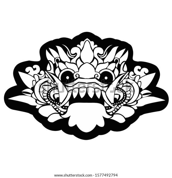 Illustration Cultural Leak Vector Bali Indonesia Stock Vector Royalty Free 1577492794