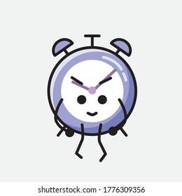 An illustration of Cute Alarm Clock Vector Character