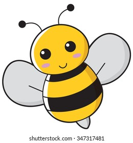 Illustration of cute bee