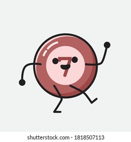 An illustration of Cute Billiard Ball Vector Character - Shutterstock ID 1818507113