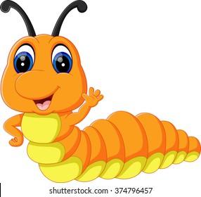 illustration of Cute caterpillar cartoon