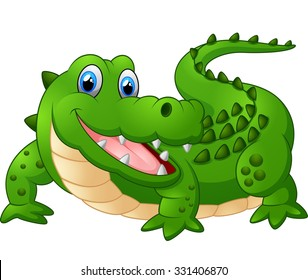 illustration of cute crocodile