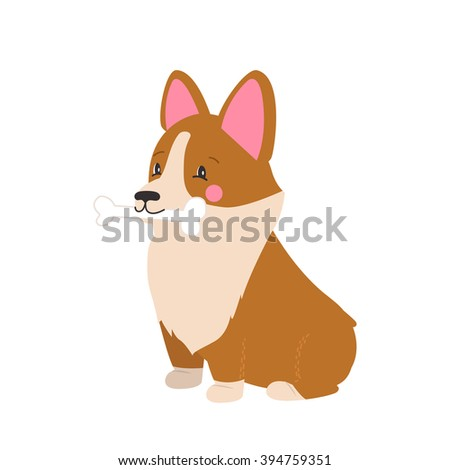 Illustration Cute Dog Welsh Corgi Nice Stock Vector Royalty Free