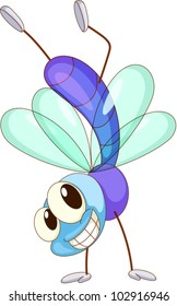 illustration of a cute fly
