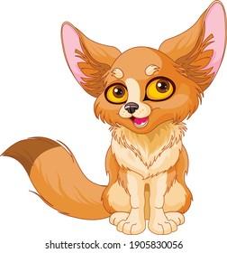 Illustration of cute Fox Fennec