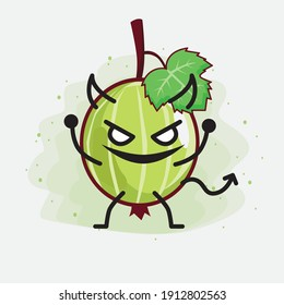 An illustration of Cute Gooseberry Fruit Mascot Character