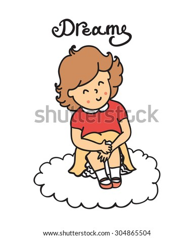 illustration of cute little girl template for design and decoration greeting cards invitations