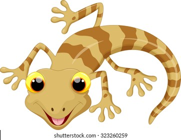 Illustration of cute lizard cartoon