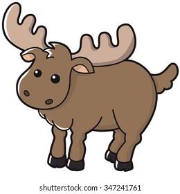 Illustration of cute moose