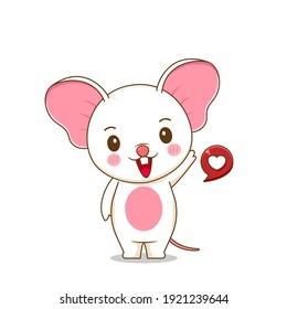 Illustration of cute mouse character