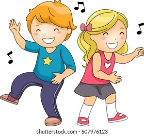 kids dancing images stock photos vectors shutterstock rh shutterstock com child dancing clipart Dancing Group Clip Art