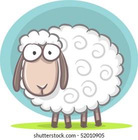 Illustration of cute sheep