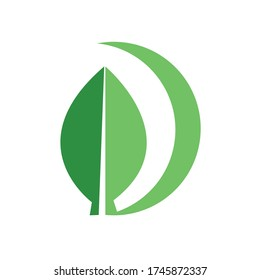 Illustration of dark green and light green leaves. Isolated vector