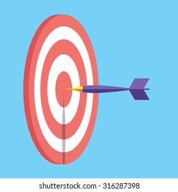 Illustration Darts, graphic concept business design and success idea
