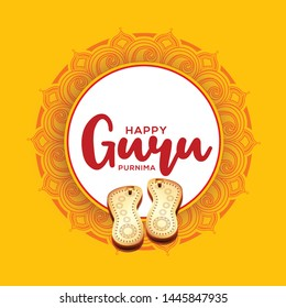 Illustration for the Day of honoring celebrating guru purnima.