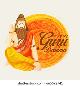 Illustration for the Day Of Honoring Celebration Guru Purnima.