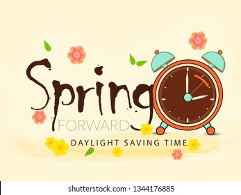 Illustration Of Daylight Saving Time Background.