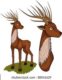 An illustration of a deer.