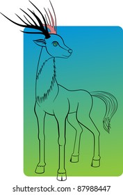 An illustration of a deer. Can be scaled without quality loss.