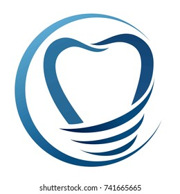 Illustration of a dental implant. Logo for a dental clinic