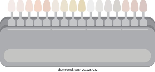 歯のシェードガイドのイラスト。