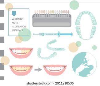 歯のホワイトニングのモチーフのイラスト。