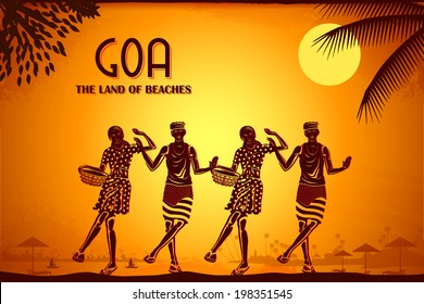 illustration depicting the culture of Goa, India