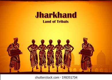 illustration depicting the culture of Jharkhand, India