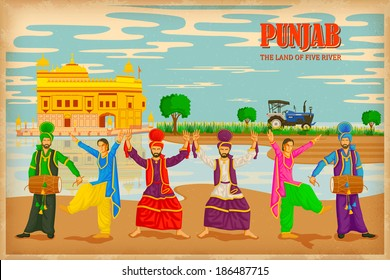 illustration depicting the culture of Punjab , India