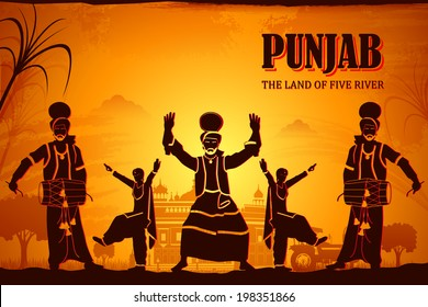 illustration depicting the culture of Punjab, India