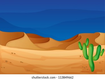 illustration of a desert in a beautiful nature