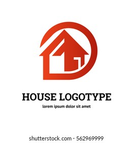 Illustration design of business logotype abstract building simple sign. Logo design abstract house vector template